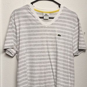 Lacoste V-neck striped t shirt